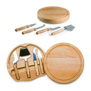 Circo - Circular Cutting Board w/4 Stainless Steel Cheese Tools